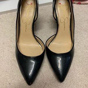 Jessica Simpson black pointed heels